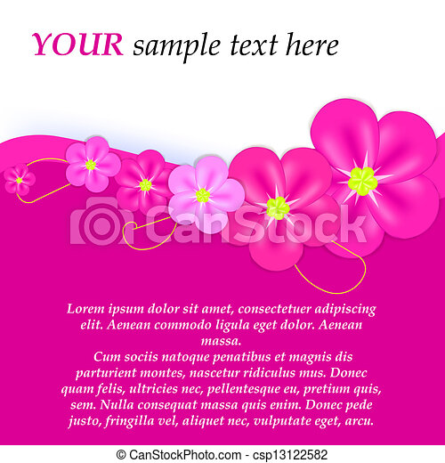 Abstract colorful background with flowers. Vector illustration - csp13122582