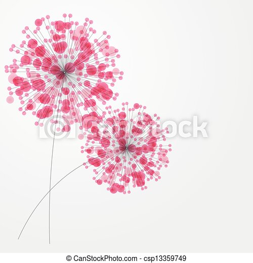 Abstract colorful background with flowers. Vector illustration - csp13359749