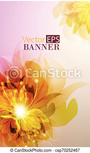 Abstract colorful background with flowers - csp70252487