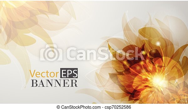 Abstract colorful background with flowers - csp70252586