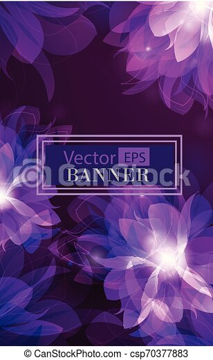 Abstract colorful background with flowers - csp70377883