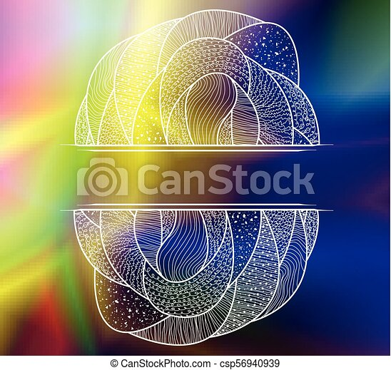Abstract colorful background with pattern. - csp56940939