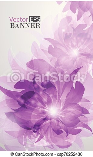 Abstract colorful background with flowers - csp70252430