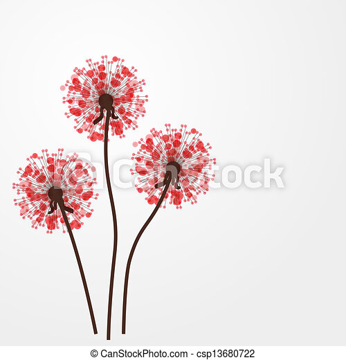 Abstract colorful background with flowers. Vector illustration - csp13680722