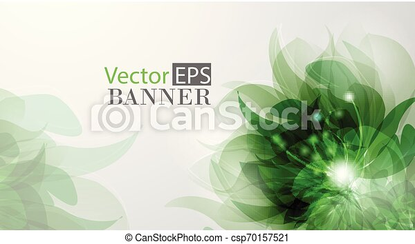 Abstract colorful background with flowers - csp70157521