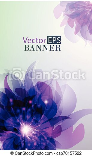 Abstract colorful background with flowers - csp70157522