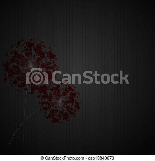 Abstract colorful background with flowers. Vector illustration - csp13840673