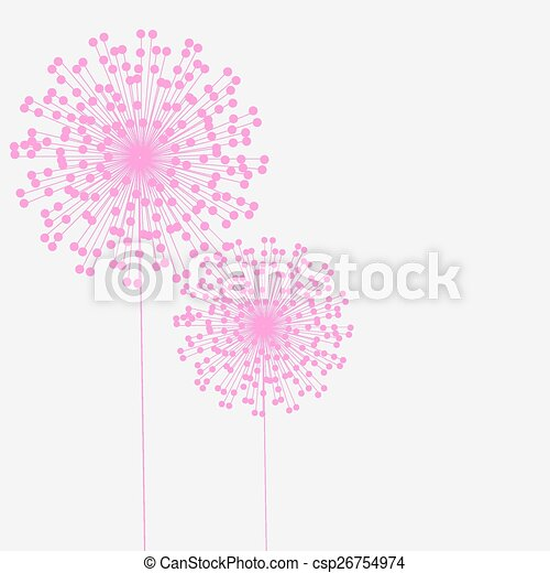 Abstract colorful background with flowers. Vector illustration - csp26754974