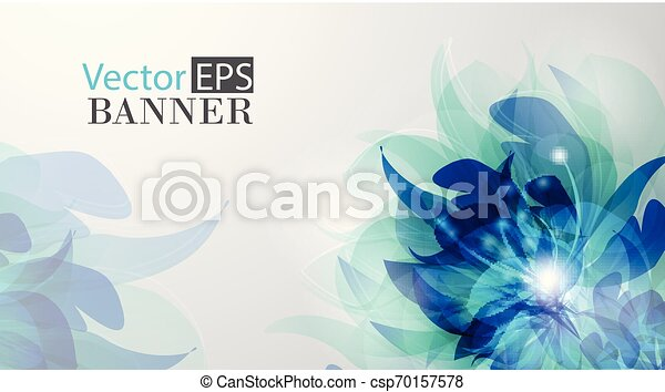 Abstract colorful background with flowers - csp70157578