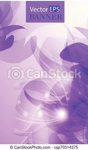 Abstract colorful background with flowers - csp70314375