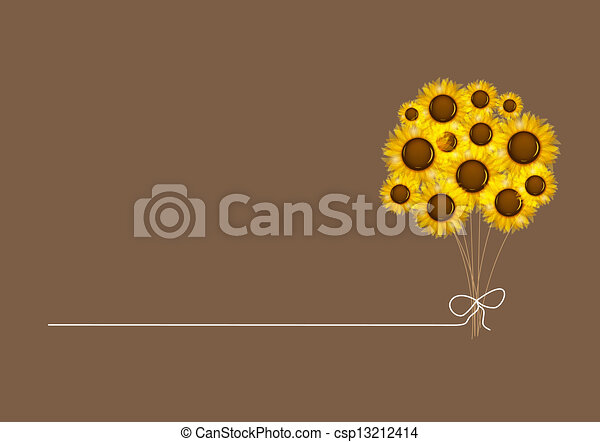 Abstract colorful background with flowers. Vector illustration - csp13212414