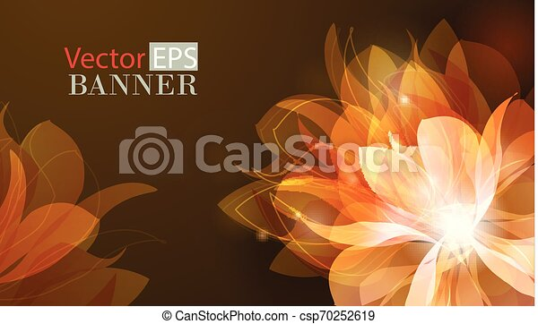 Abstract colorful background with flowers - csp70252619