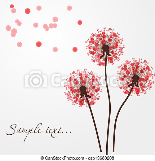 Abstract colorful background with flowers. Vector illustration - csp13680208
