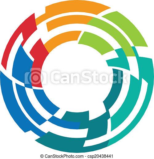 Abstract colorful camera lens image - csp20438441