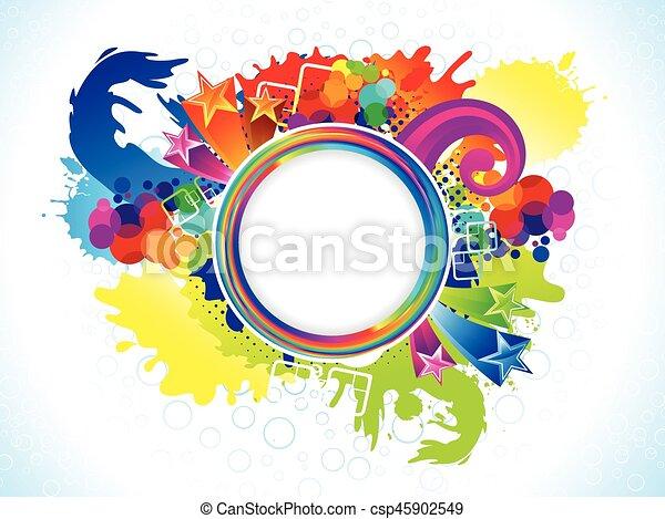abstract colorful circle explode - csp45902549