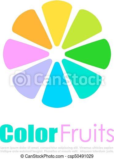 Abstract colorful citrus vector logo - csp50491029