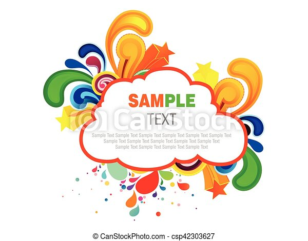 abstract colorful cloud artistic explode vector illustration - csp42303627