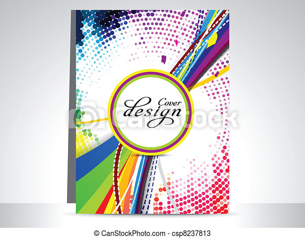 abstract colorful dotted flayer  - csp8237813