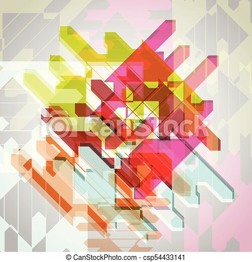 Abstract colorful eps10 vector background - csp54433141