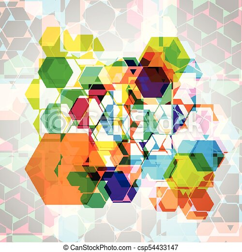 Abstract colorful eps10 vector background - csp54433147