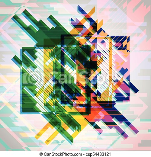 Abstract colorful eps10 vector background - csp54433121
