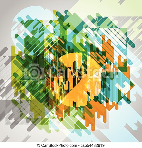 Abstract colorful eps10 vector background - csp54432919