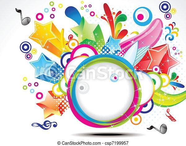 abstract colorful exploade circle - csp7199957