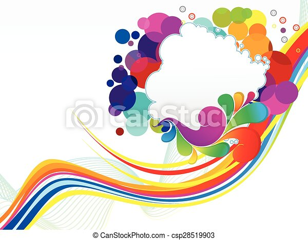 abstract colorful explode background - csp28519903