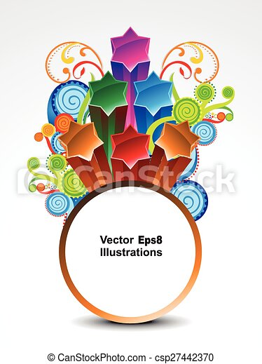 abstract colorful explode circle banner background .eps - csp27442370