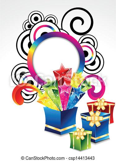 abstract colorful explode magic box - csp14413443