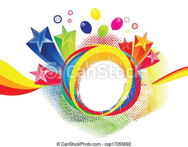 abstract colorful explode vector - csp17055692