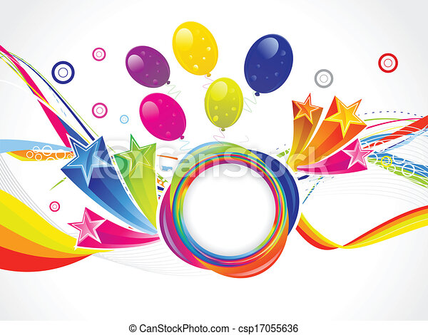 abstract colorful explode vector - csp17055636