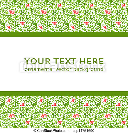 Abstract Colorful Flower Ornamental Border Vector Illustration
