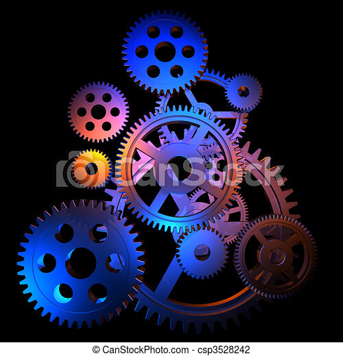 Abstract colorful gears - csp3528242