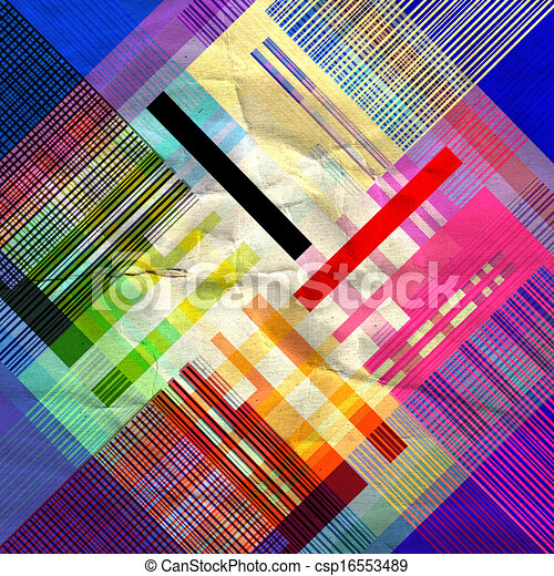abstract colorful geometric pattern - csp16553489