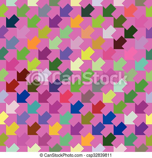 Abstract colorful geometric seamless pattern - csp32839811