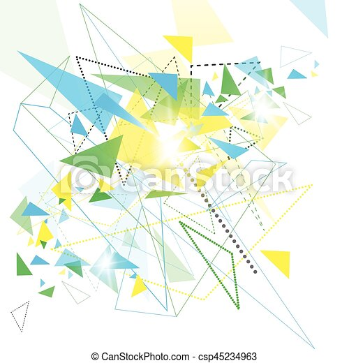Abstract Colorful Geometrical Background Copy Space - csp45234963