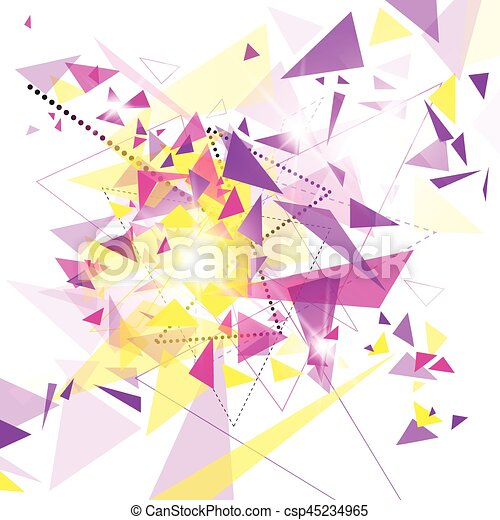 Abstract Colorful Geometrical Background Copy Space - csp45234965