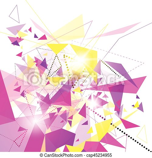 Abstract Colorful Geometrical Background Copy Space - csp45234955