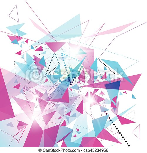 Abstract Colorful Geometrical Background Copy Space - csp45234956