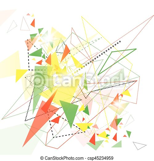 Abstract Colorful Geometrical Background Copy Space - csp45234959