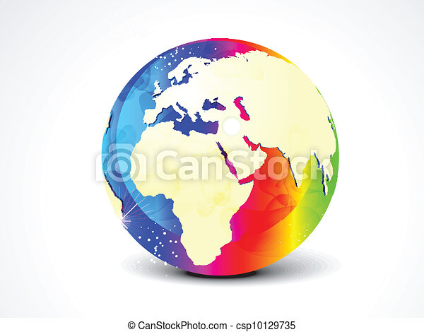abstract colorful globe vector  - csp10129735