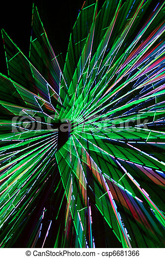 Abstract Colorful Green Spinning Ferris Wheel 2 - csp6681366
