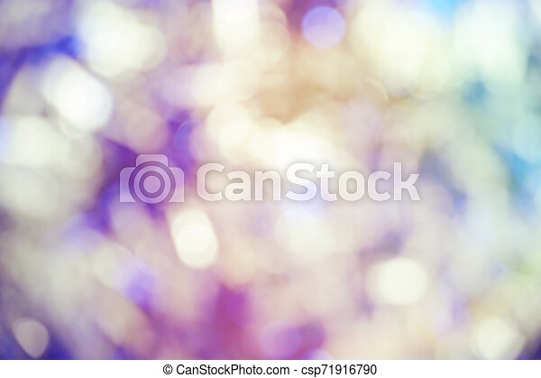 Abstract Colorful light bokeh background - csp71916790