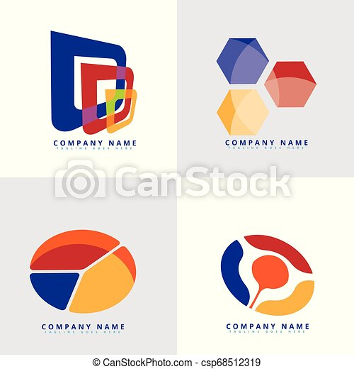 Abstract & colorful logo template in modern style - csp68512319