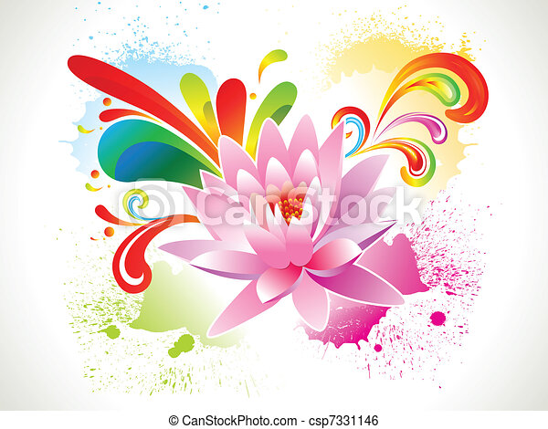 Abstract colorful lotus flower vector illustration abstract colorful lotus flower csp7331146 mightylinksfo