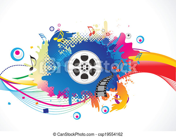 abstract colorful media explode  - csp19554162