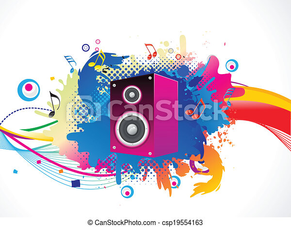 abstract colorful media explode - csp19554163