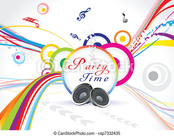 abstract colorful music party background vector illustration clipart rh canstockphoto com party vector design party victory and government