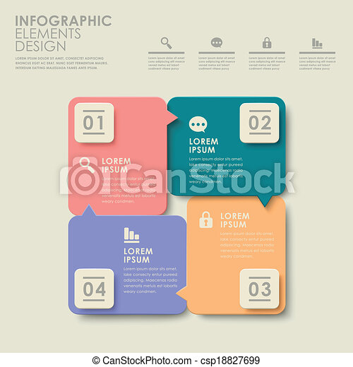 abstract colorful option infographics - csp18827699